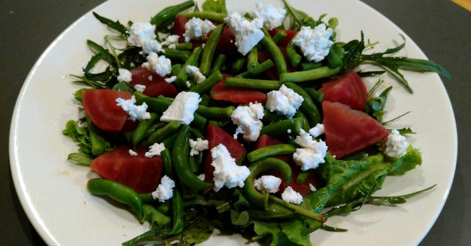Salad Ways Camperdown Terang Summer Salad with Beetroot, Goat's Cheese and Green Beans
