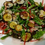 Zucchini and Bean Salad with Tahini Dressing
