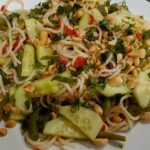 Herby nutty noodle salad